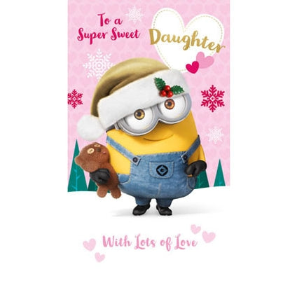 Despicable Me Daughter Christmas Card