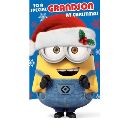 Despicable Me Grandson Christmas Greeting Card