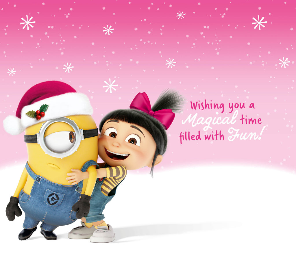 Despicable Me Minions Granddaughter Christmas Card Inside