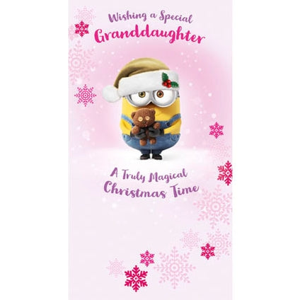 Despicable Me Granddaughter Christmas Card