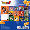 Dragon Ball Z Official 2021 Square Wall Calendar Back
