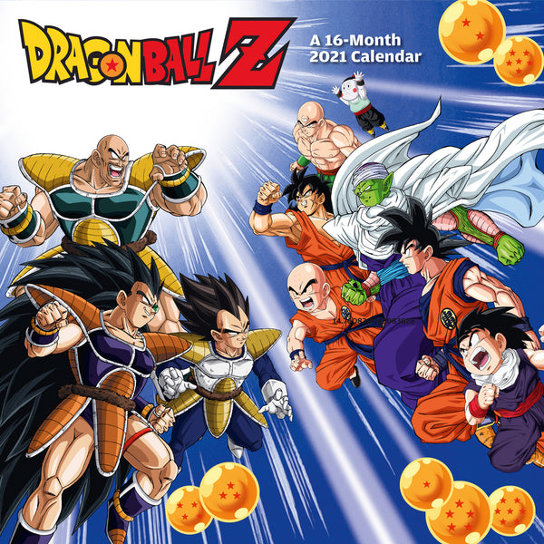Dragon Ball Z Official 2021 Square Wall Calendar Front
