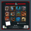 Dungeons & Dragons Official 2021 Square Wall Calendar BACK
