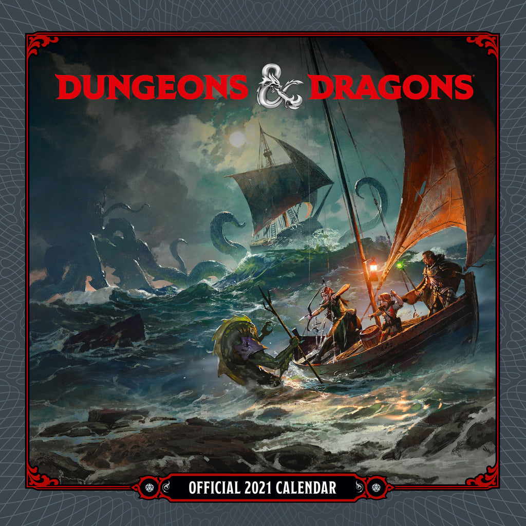 Dungeons & Dragons Official 2021 Square Wall Calendar FRONT