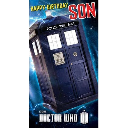 Doctor Who Son Birthday Card