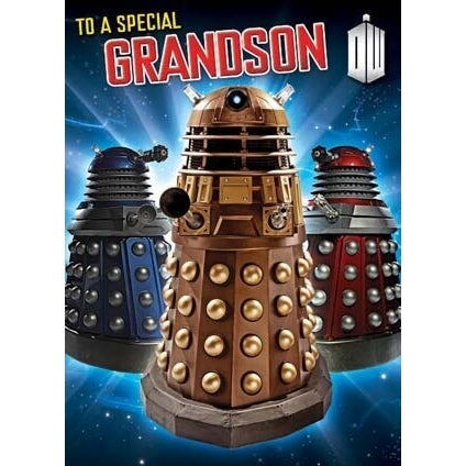 Doctor Who Grandson Birthday Card