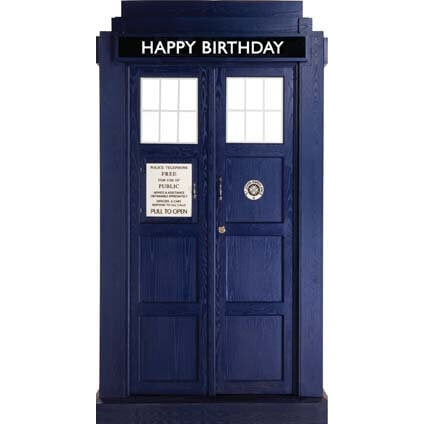 Doctor Who Happy Birthday Tardis Card