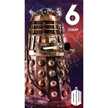Doctor Who Age 6 Birthday Card