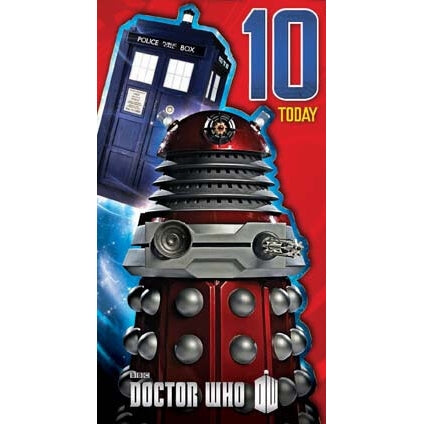 Doctor Who Age 10 Birthday Card