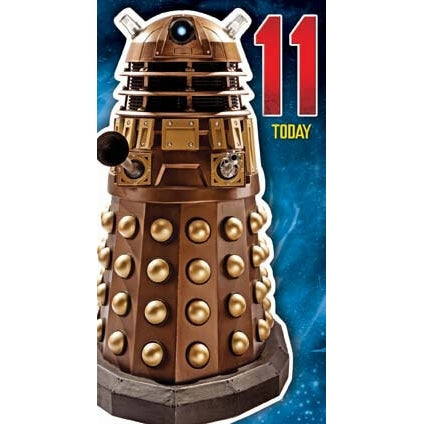 Doctor Who Age 11 Birthday Card