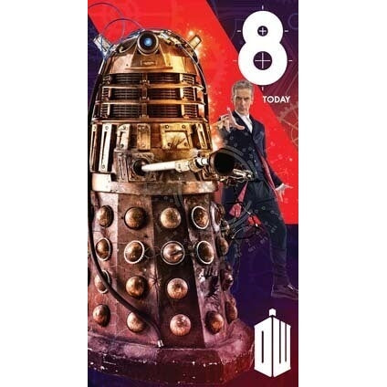 Doctor Who Age 8 Birthday Greeting Card
