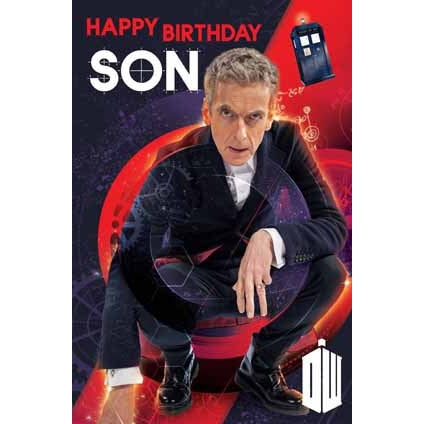 Doctor Who Son Birthday Greeting Card
