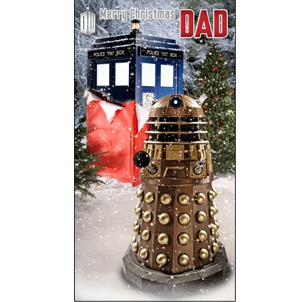 Dr Who Dad Christmas Card