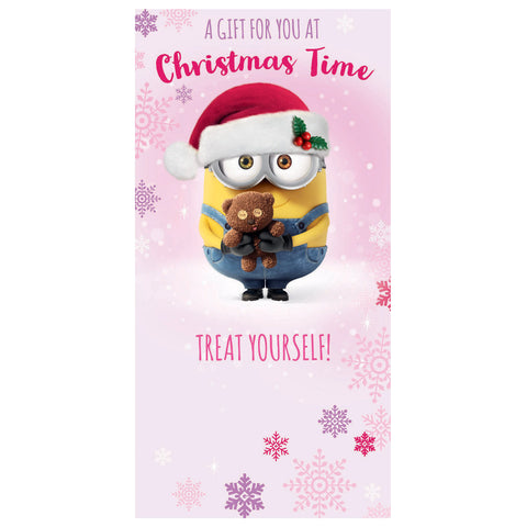 Despicable Me Minion Christmas Money Wallet Card