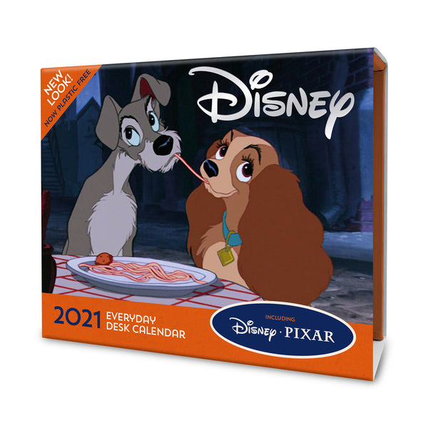 Disney Animation 2021 Desk Block Calendar Front