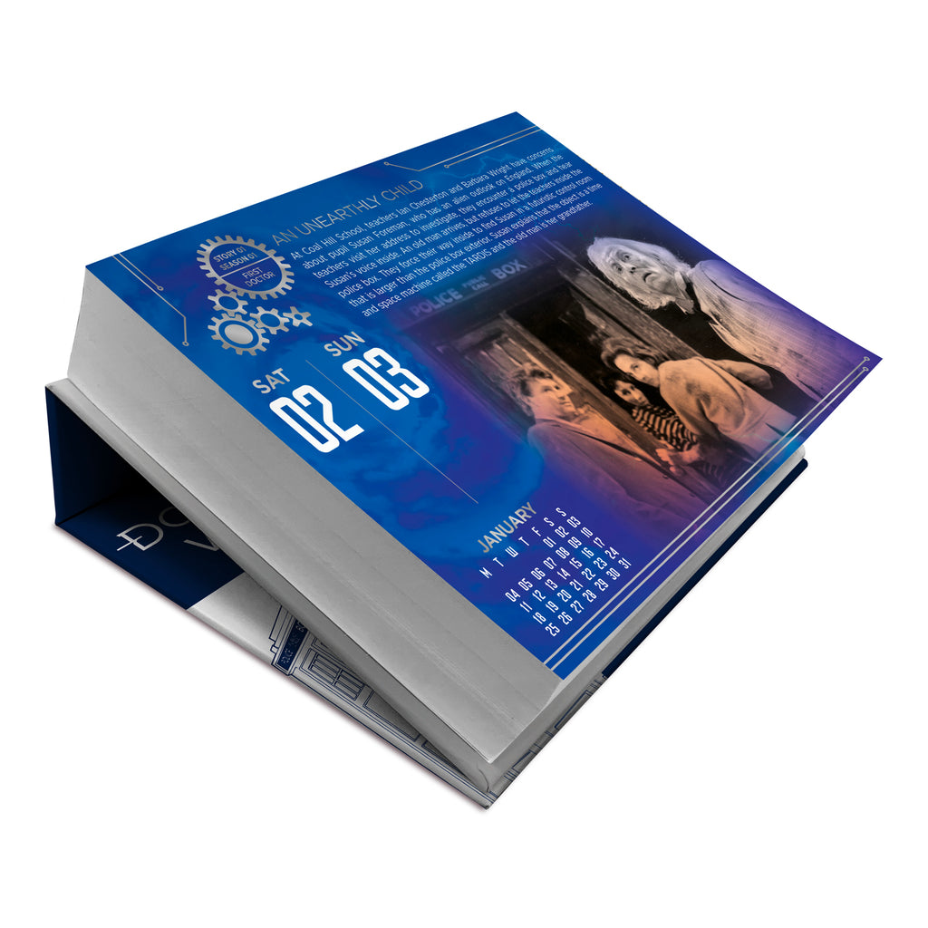 Doctor Who Official 2021 Desk Block Calendar Inside 1