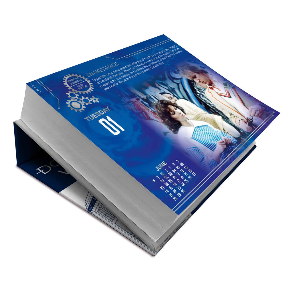 Doctor Who Official 2021 Desk Block Calendar Inside 2