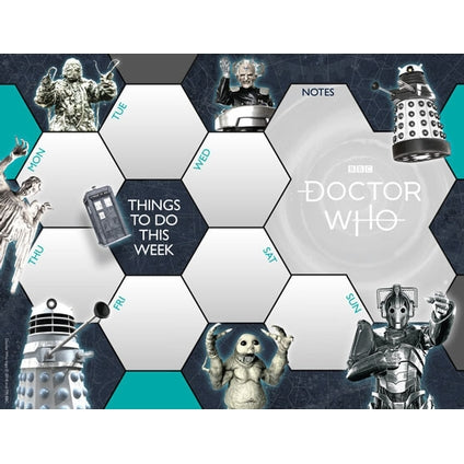 Doctor Who Classic Desk Pad Official Calendar