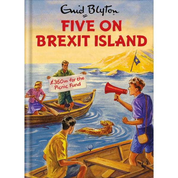 Five On Brexit Island Birthday Card Front