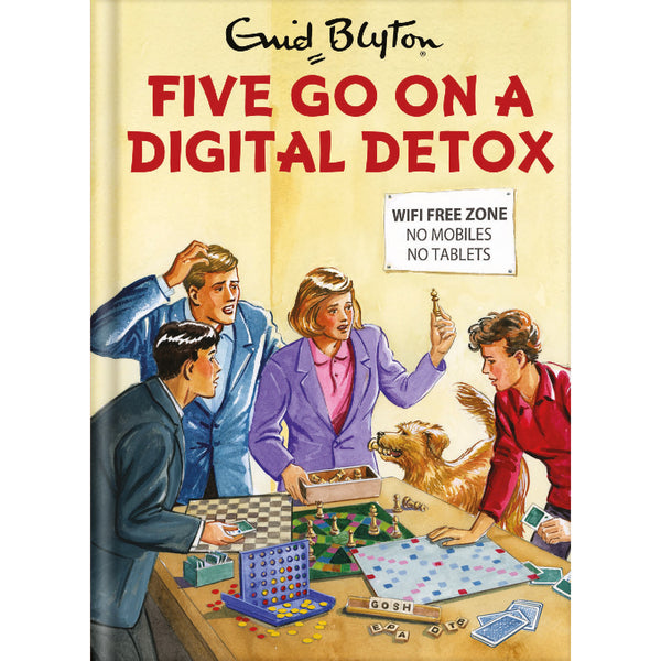 Five Go On A Digital Detox Birthday Card Front