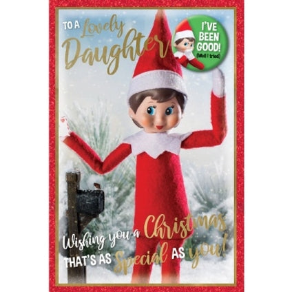 The Elf on the Shelf Daughter Official Christmas Card & Badge