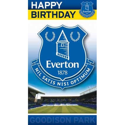 Everton Happy Birthday Card
