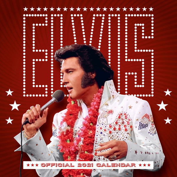Elvis Official 2021 Square Wall Calendar Front