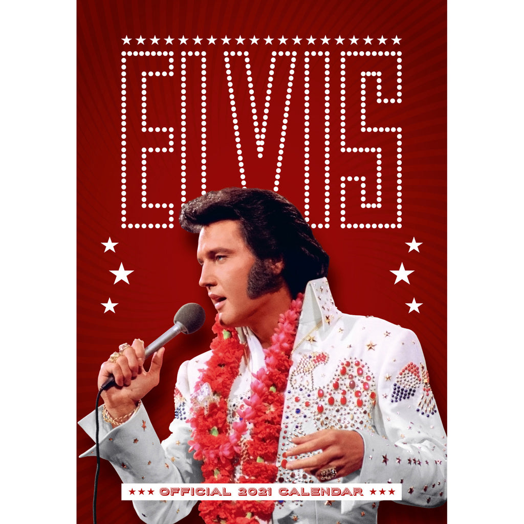 Elvis Official 2021 A3 Wall Calendar Front