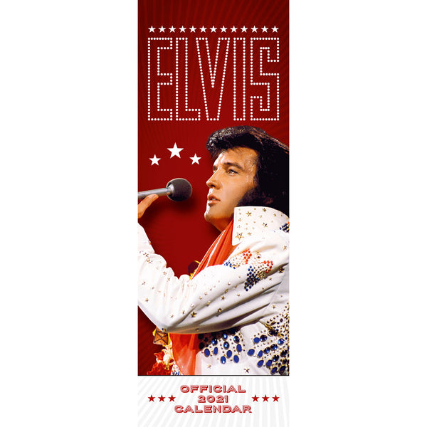 Elvis Official 2021 Slim Calendar Front