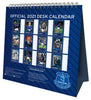 Everton Official 2021 Desk Easel Calendar Back