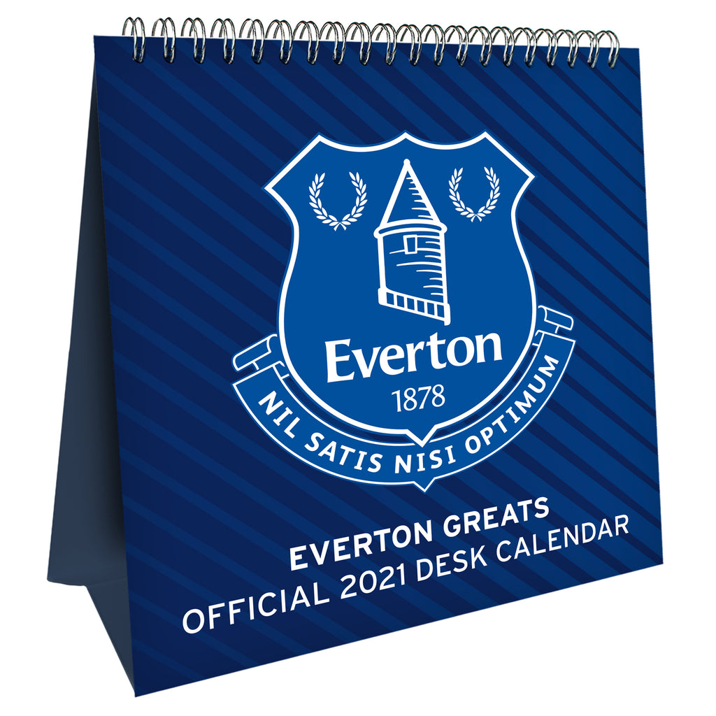 Everton Official 2021 Desk Easel Calendar Front