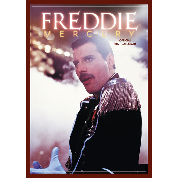 Freddie Mercury Official 2021 A3 Calendar MAIN