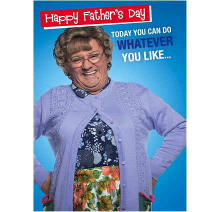 Mrs Brown Boys Father's Day Sound Card