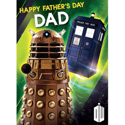 Dr Who Father's Day Sound Card
