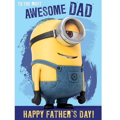 Despicable Me Father's Day Talking Sound Card