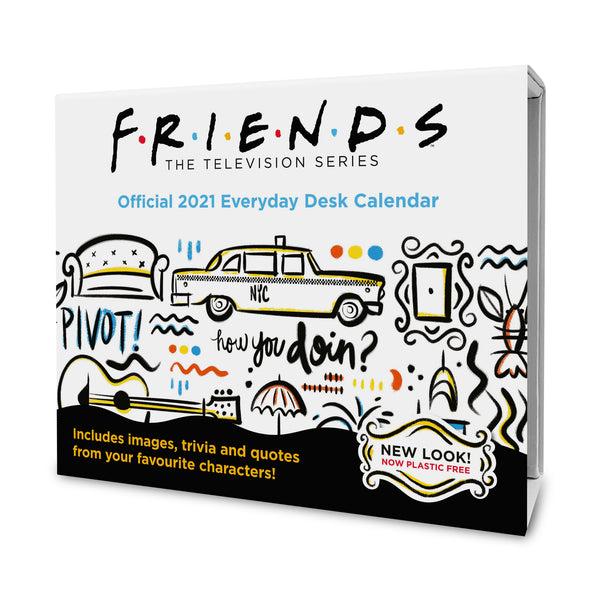 Friends 2021 Desk Block Calendar Front