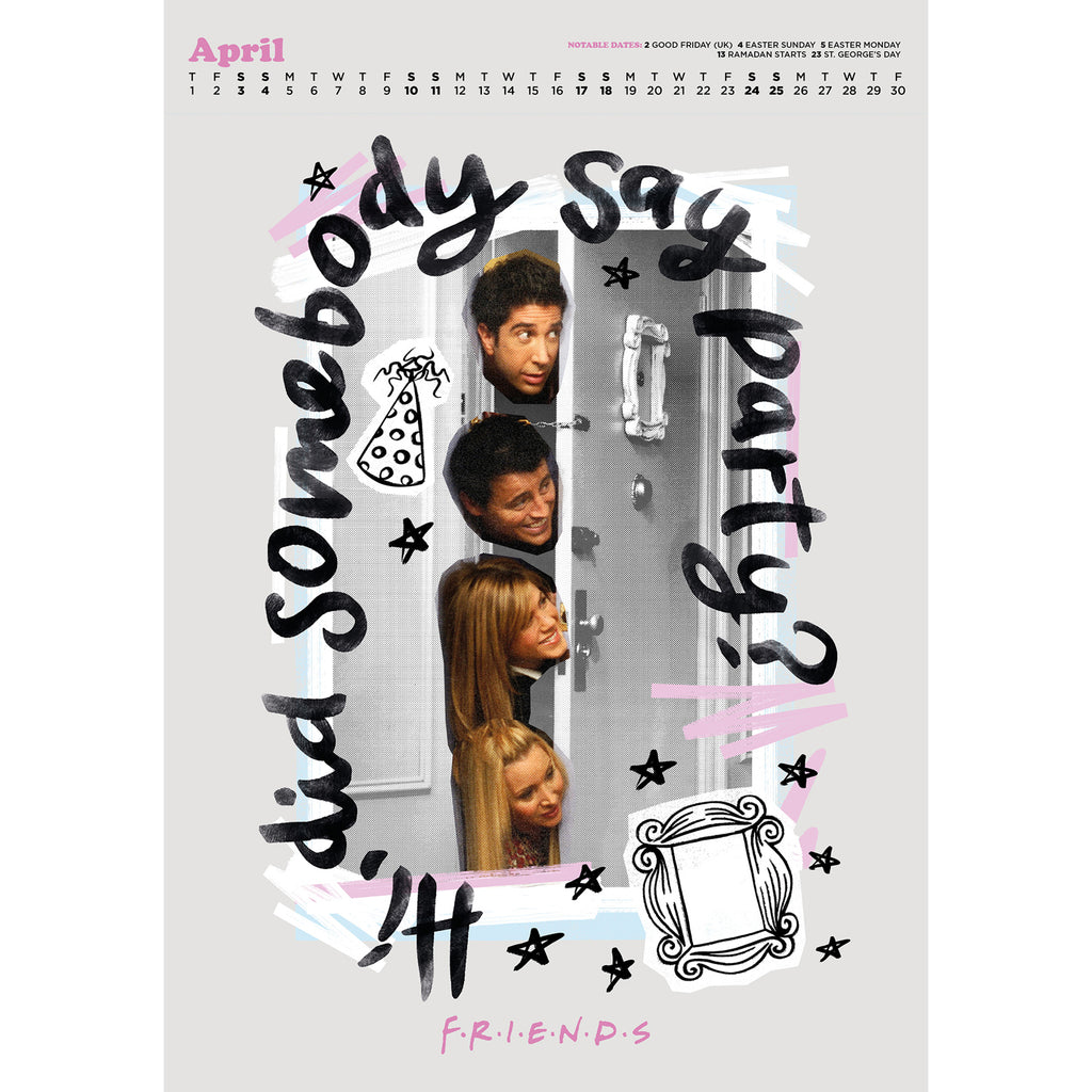 Friends 2021 Deluxe Special Edition A3 Wall Calendar Inside 2