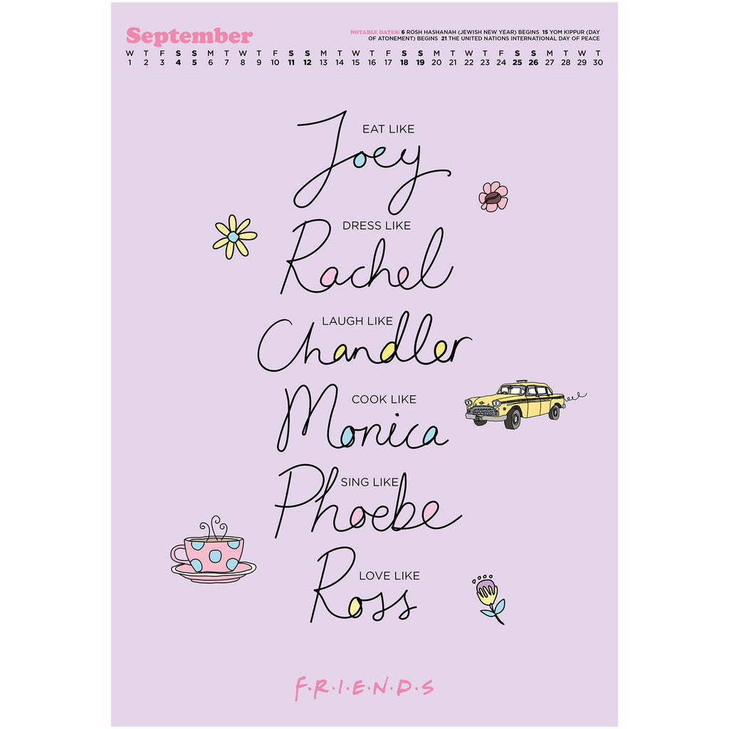 Friends 2021 Deluxe Special Edition A3 Wall Calendar Inside 3
