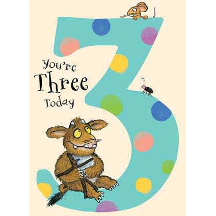 The Gruffalo Age 3 Birthday card