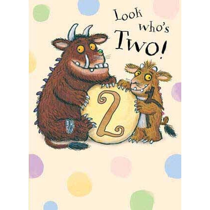 The Gruffalo 2nd Birthday Card