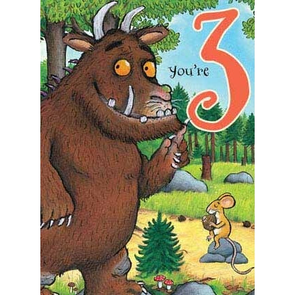 The Gruffalo 3rd Birthday Card