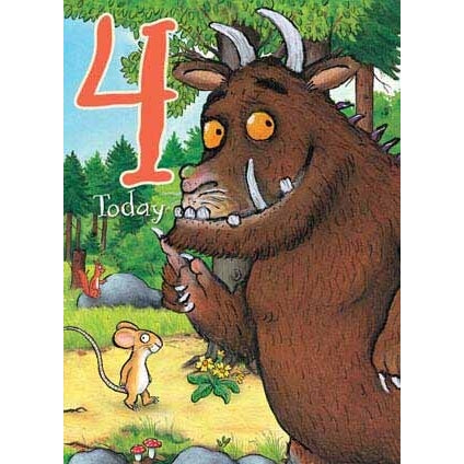 The Gruffalo Age 4 Card