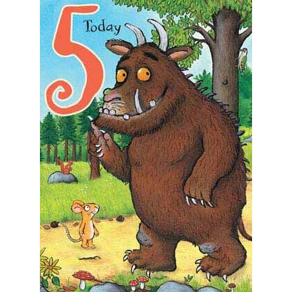 The Gruffalo Age 5 Birthday Card