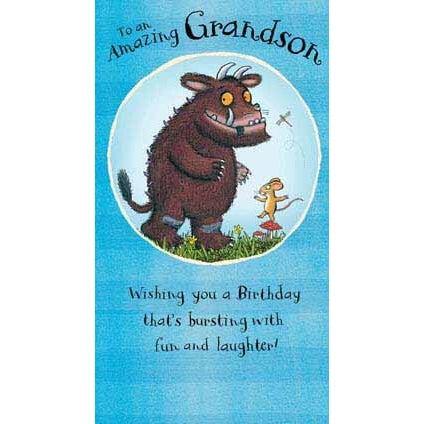 The Gruffalo Grandson Birthday Card