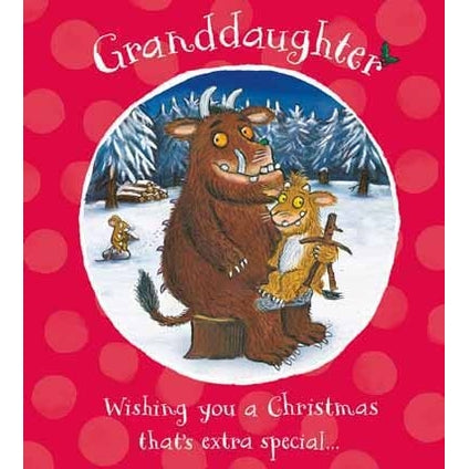 Gruffalo Granddaughter Christmas Card