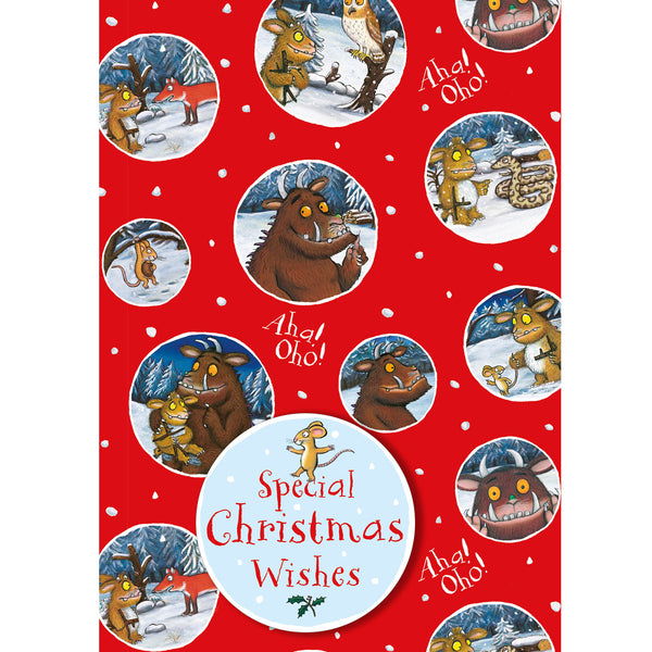 The Gruffalo Christmas Gift Wrap and Gift Tag Set