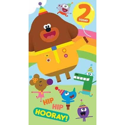 Hey Duggee Age 2 Birthday Card