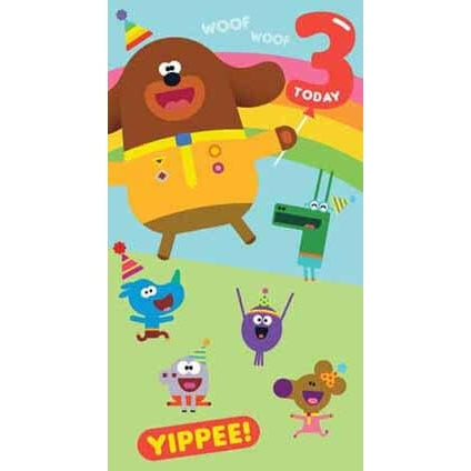 Hey Duggee Age 3 Birthday Card