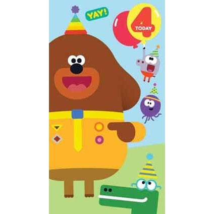 Hey Duggee Age 4 Birthday Card