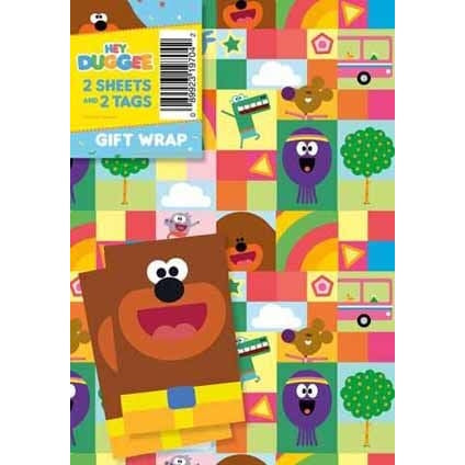 Hey Duggee Gift Wrap 2 Sheets & Tags